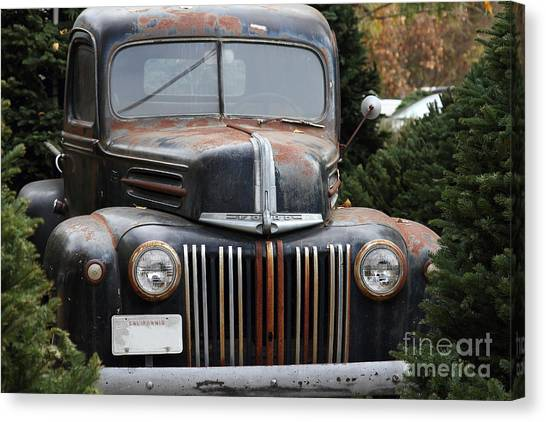 Nostalgic Rusty Old Ford Truck . 7d10280 Canvas Print by Wingsdomain Art and Photography
