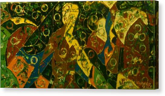 Canvas Print featuring the painting Not In My Dream Two by Ray Khalife