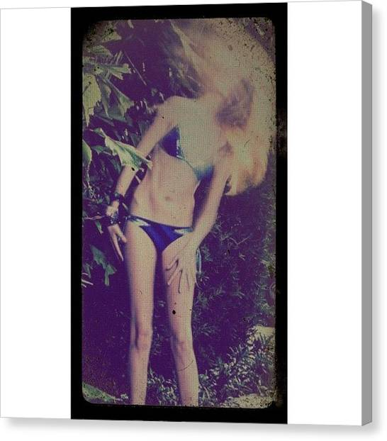 Bikini Canvas Print - #notanaccident #plannedeffect by Maria Lankina