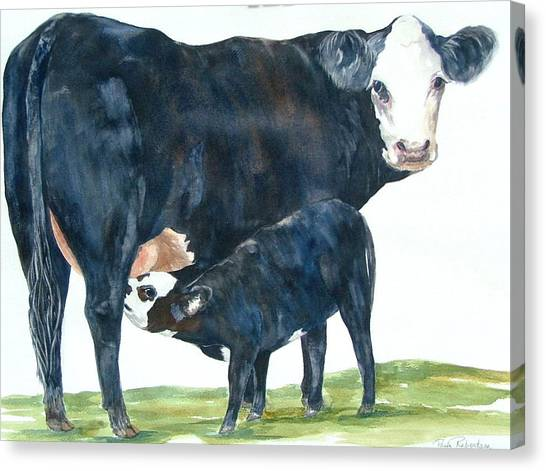 Nothing But Mother's Milk For My Baby Canvas Print