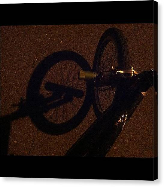 Kings Canvas Print - Nothing Like A #latenight #bikeride by Cai King-Young