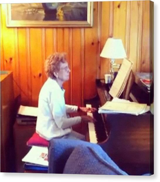 Grandma Canvas Print - Nothing Like Grandma Playing The Piano by Ashley Shine