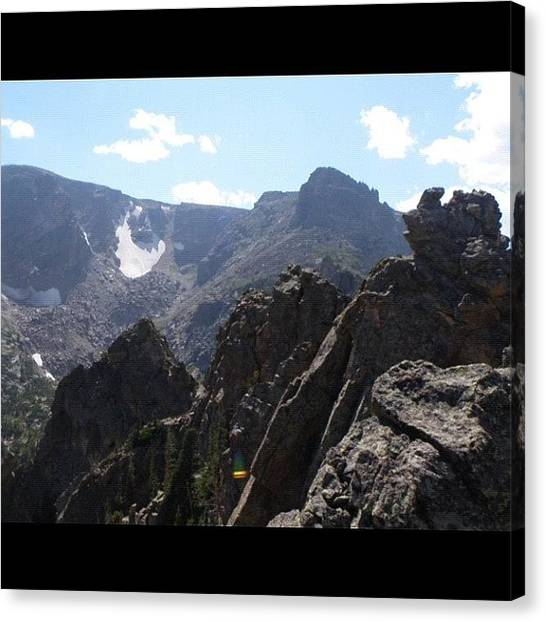 Rocky Mountains Canvas Print - Nothing Like The #terrain Above by James Sibert