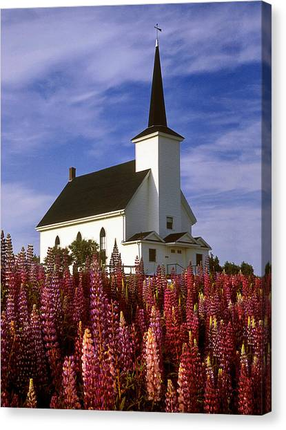 Nova Scotia Church Canvas Print