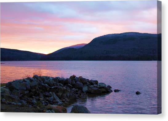 November Sunrise Canvas Print by Marie Fortin