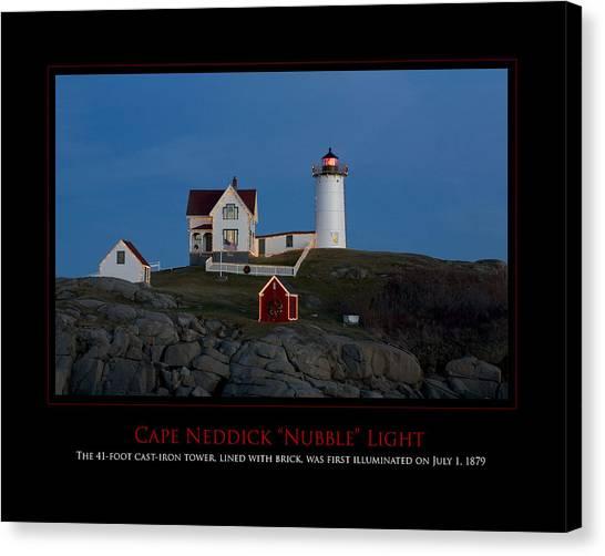 Nubble Light Canvas Print by Jim McDonald Photography