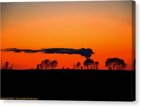 Nuclear Clouds Canvas Print by Dan Crosby