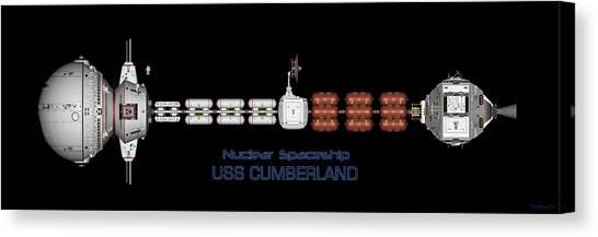 Nuclear Spaceship Uss Cumberland Canvas Print