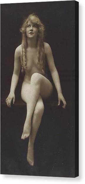 Nake Women Canvas Print Nude Girl 1915 By Steve K