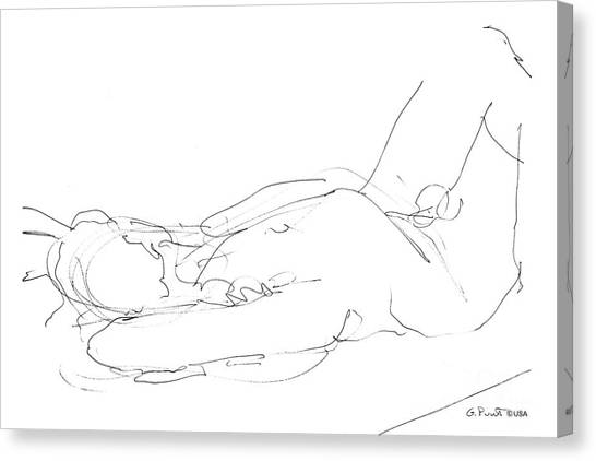 Nude-male-drawings-12 Canvas Print