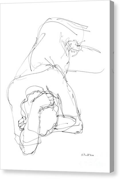 Nude Male Drawings 7 Canvas Print