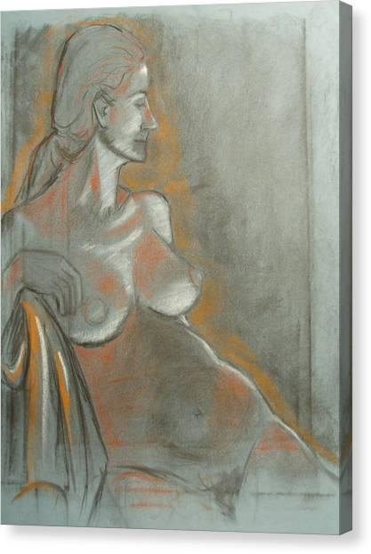 Nude Model  Canvas Print by Aveda Allen