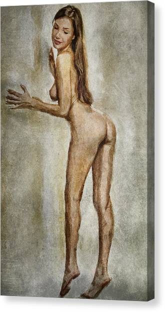 Erotic Framed Canvas Print - Nude Woman 1 by Yury Malkov