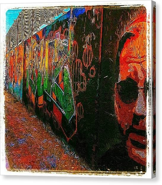 Maine Canvas Print - Nudged Colors #graffiti #art #wall #smp by Chris T Darling