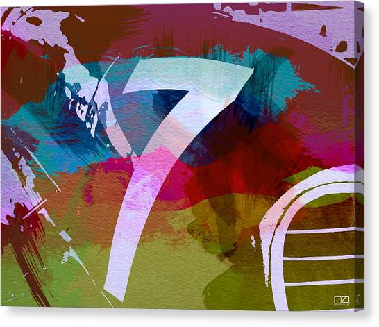 Formula Car Canvas Print - Number 7 by Naxart Studio