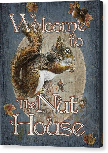 Crazy Canvas Print - Nut House by JQ Licensing