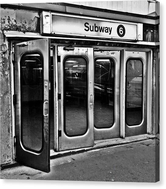 Retro Canvas Print - #ny #metro by Joel Lopez