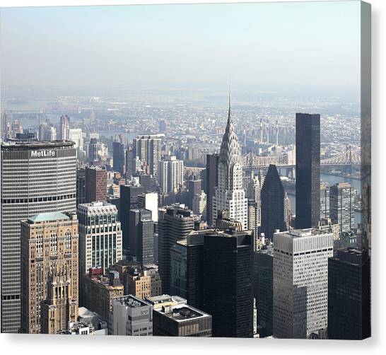 Ny Sky-line Canvas Print by Jeff Mueller