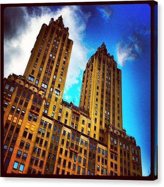 Buildings Canvas Print - #nyc #clouds #centralpark #sky #building by Luke Kingma