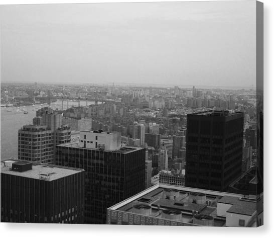Chrysler Building Canvas Print - Nyc From The Top 2 by Naxart Studio