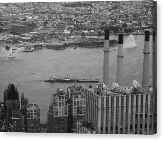 Chrysler Building Canvas Print - Nyc From The Top 4 by Naxart Studio