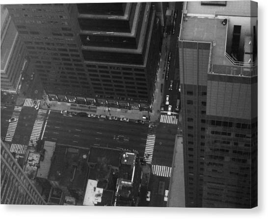 Chrysler Building Canvas Print - Nyc From The Top by Naxart Studio