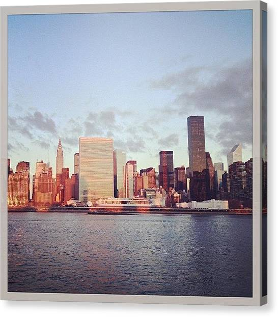 France Canvas Print - Nyc Sunrise by Randy Lemoine