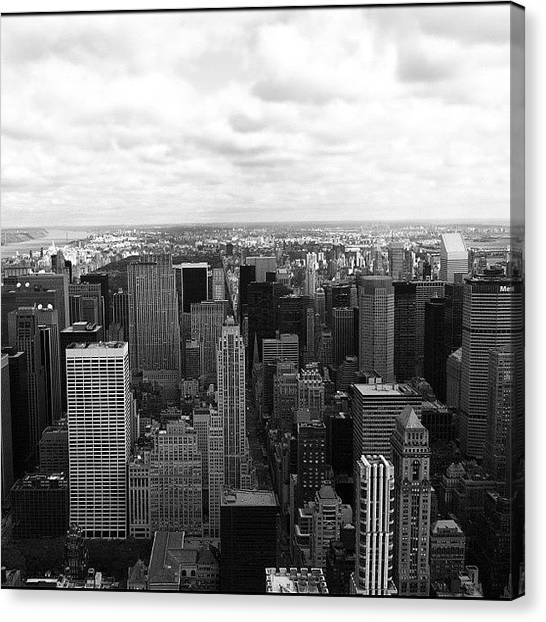Lucky Canvas Print - Nyc Today!! by Lucas Rocha