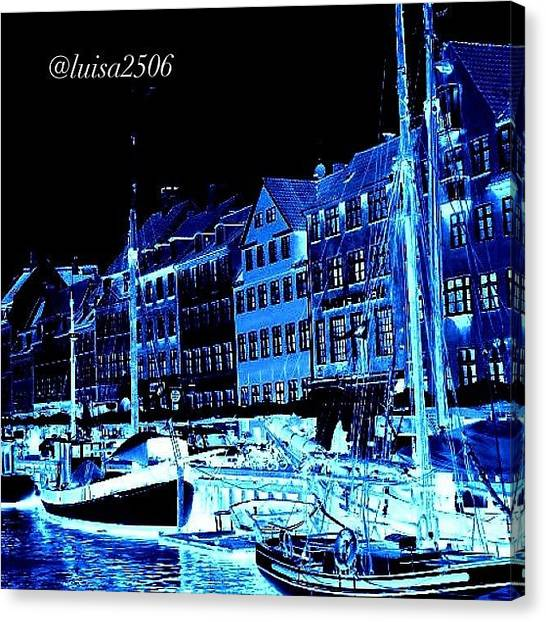 Cool Canvas Print - #nyhavn #copenhagen #denmark #landscape by Luisa Azzolini
