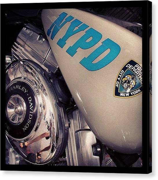 Law Enforcement Canvas Print - #nypd #police #harleydavidson #ny by 🅿💀r1⃣©⚠◀ Qu1⃣5⃣p3⃣l