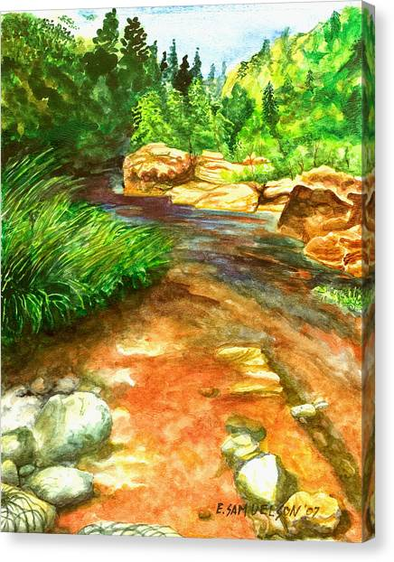 Oak Creek Red Canvas Print