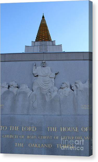 Oakland California Temple . The Church Of Jesus Christ Of Latter-day Saints . 7d11333 Canvas Print by Wingsdomain Art and Photography