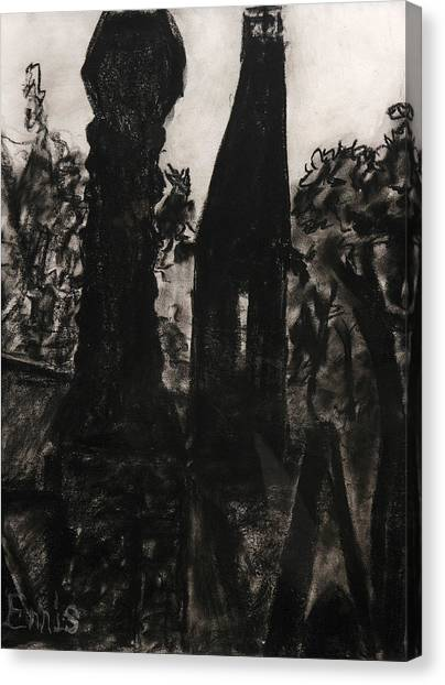 Oakwood Church Towers Canvas Print by Christophe Ennis
