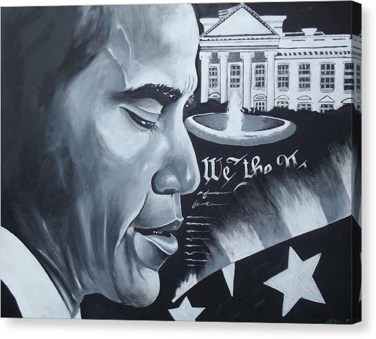 Obama Canvas Print by Alonzo Butler