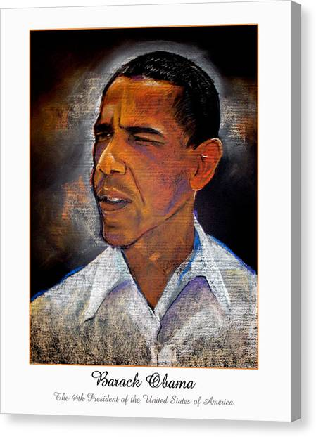 Obama. The 44th President. Canvas Print by Fred Makubuya