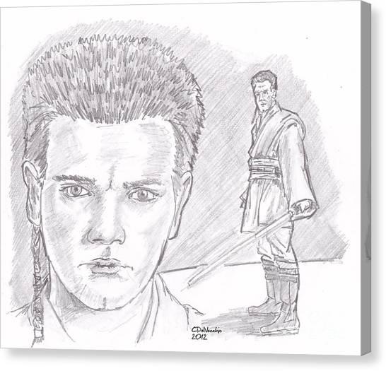 Obi Wan Kenobi Episode I Canvas Print by Chris  DelVecchio