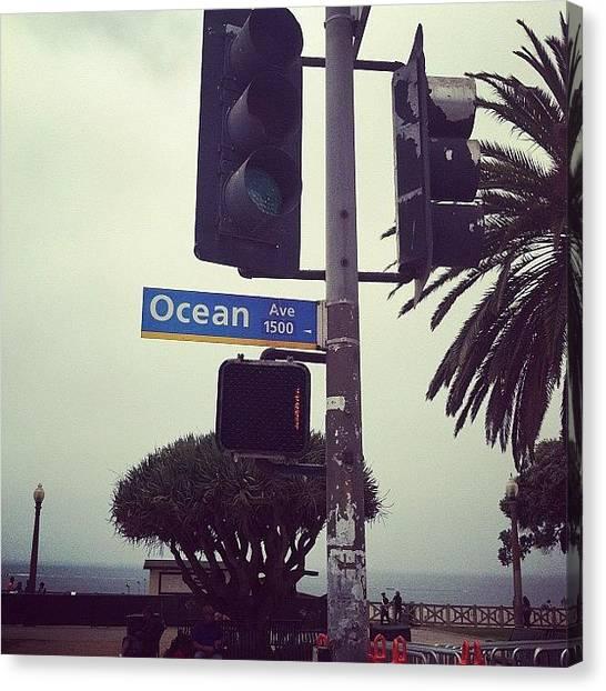 Santa Monica Canvas Print - Ocean Ave by Erin Egan