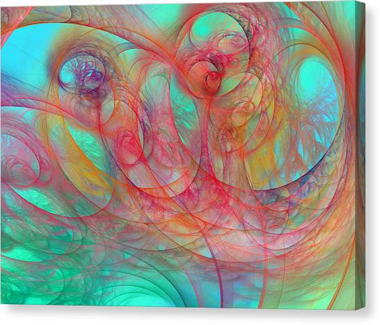 Tumbling Canvas Print - Ocean Currents I Of II by Betsy Knapp