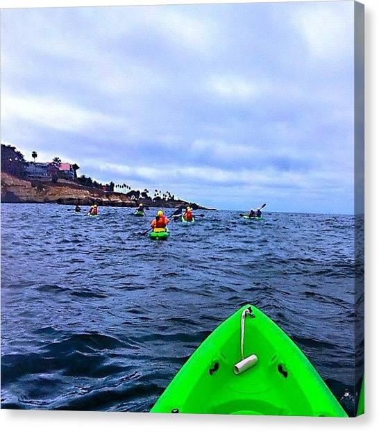 Kayaks Canvas Print - #ocean #kayaking #instagallery by Mark Jackson