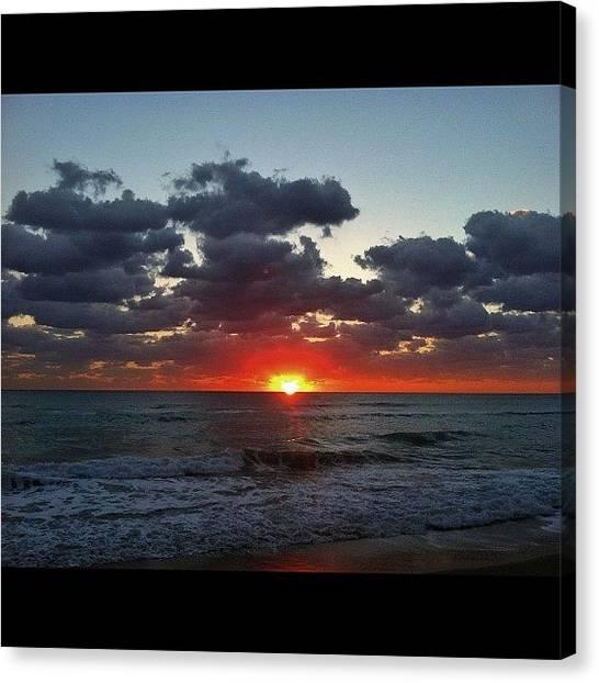Ocean Sunrises Canvas Print - #ocean #miami #morning #water by Alexandr Dobrovan