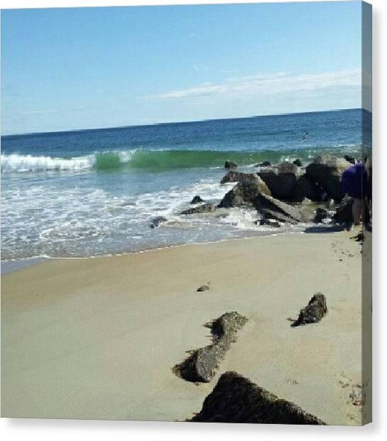 Seashells Canvas Print - Ocean Tide by Laura Vaillancourt