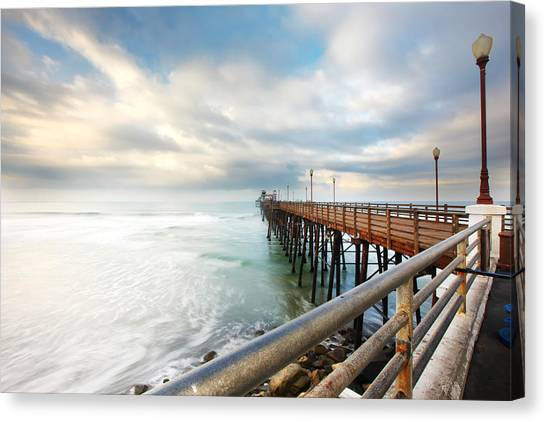 San Diego Canvas Print - Oceanside Sunset 6 by Larry Marshall