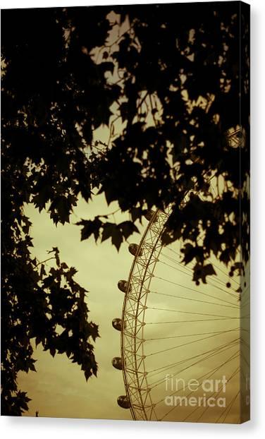 London Eye Canvas Print - October Mist by Jan Bickerton