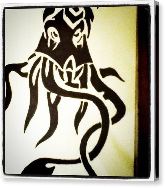 Octopus Canvas Print - #octopus #sharpie #awesome #cutoff by Tiffany Harned