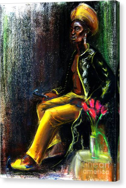 Canvas Print featuring the drawing Odelisque by Gabrielle Wilson-Sealy