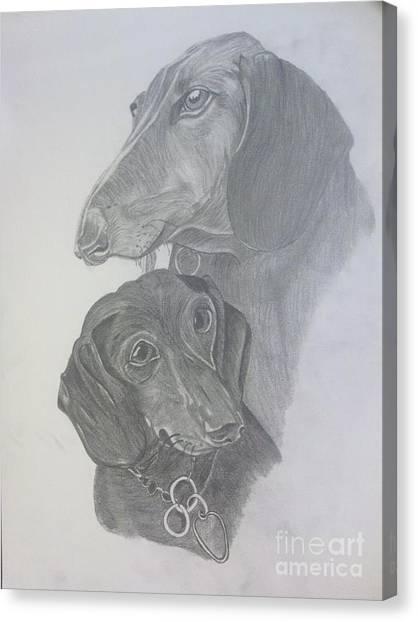 Odi And Eli Canvas Print by Lora Marsh