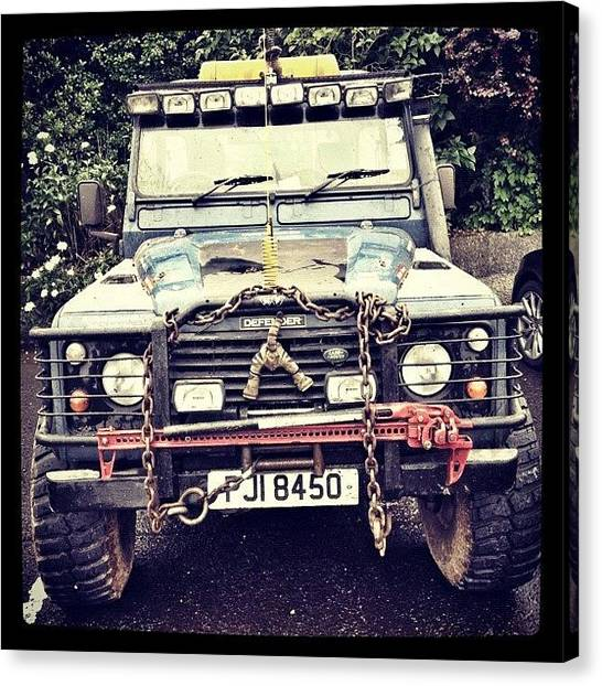 Offroading Canvas Print - #off Road#landrover#dirt#4x4#iphone by Noel Gormley