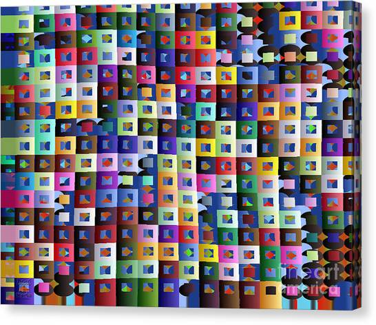 Canvas Print featuring the digital art Off The Chart by Dee Flouton