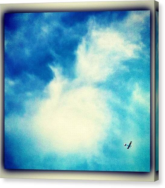 Biplane Canvas Print - Off We Go..into The Wild Blue Yonder! by Margie P