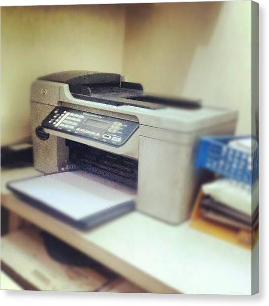 Printers Canvas Print - #office #printer #hp #officesupplies by Indraneel Banerjee